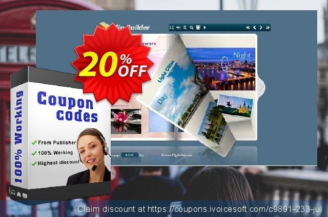Flipping Book 3D for PPT discount 20% OFF, 2020 New Year's Day discount