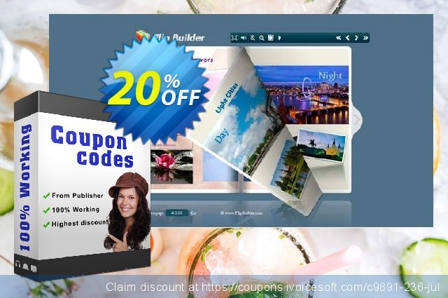 Flipping Book 3D for Video discount 20% OFF, 2021 Happy New Year offering deals