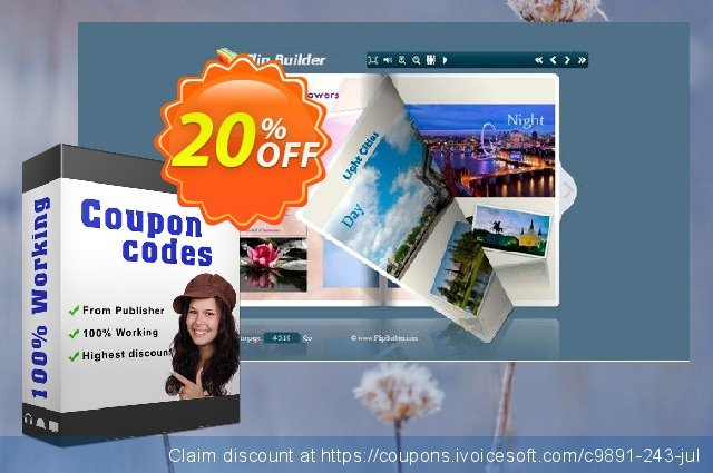 Flipping Book 3D for PCL discount 20% OFF, 2020 Thanksgiving Day offering discount