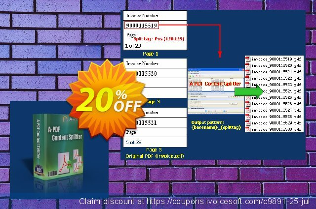 A-PDF Content Splitter discount 20% OFF, 2019 Happy New Year offer