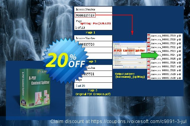 A-PDF Split discount 20% OFF, 2021 Labour Day offer. A-PDF Coupon (9891)