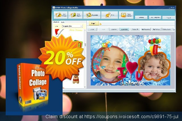 A-PDF Photo Collage Builder discount 20% OFF, 2021 Happy New Year offering sales