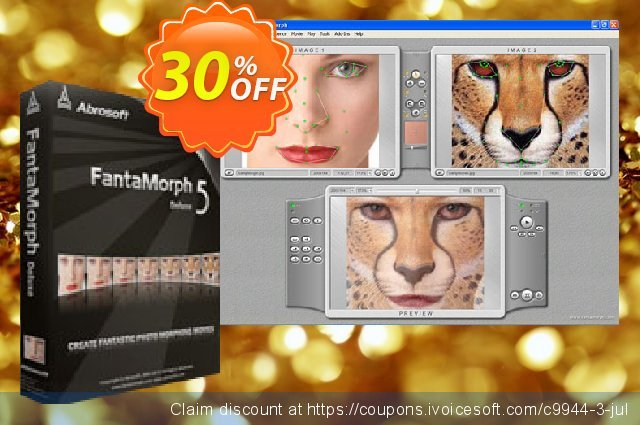 Abrosoft FantaMorph Deluxe for Windows discount 30% OFF, 2020 New Year offering sales