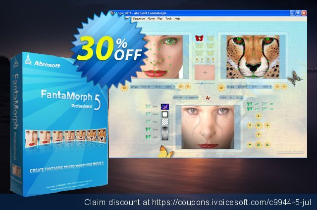 Abrosoft FantaMorph Pro for Mac discount 30% OFF, 2019 Black Friday promo
