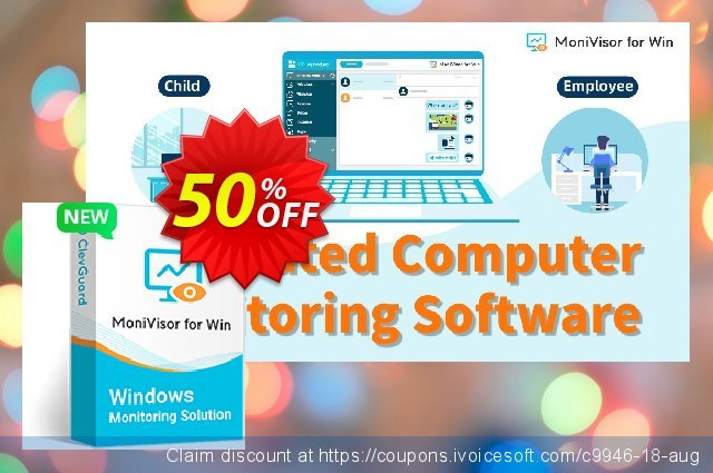 MoniVisor for Windows (3 Month Plan) discount 50% OFF, 2021 New Year's Day offering sales