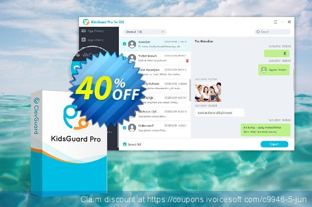 KidsGuard Pro for iOS (3-month plan) discount 40% OFF, 2020 College Student deals promo sales