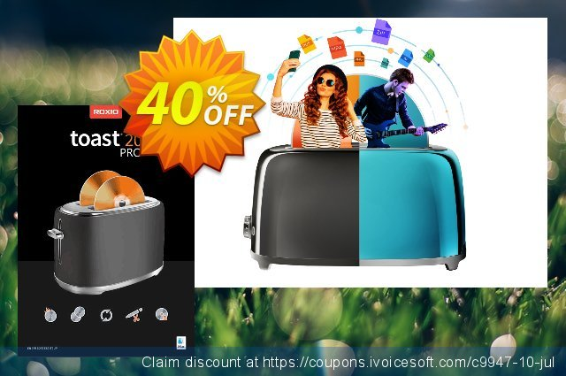 Roxio Toast 19 Pro discount 47% OFF, 2021 Mother Day offering deals. 47% OFF Toast 18 Pro, verified