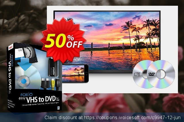 Roxio Easy VHS to DVD 3 Plus for MAC discount 50% OFF, 2021 World Day of Music offering sales. 50% OFF Roxio Easy VHS to DVD 3 Plus for MAC, verified