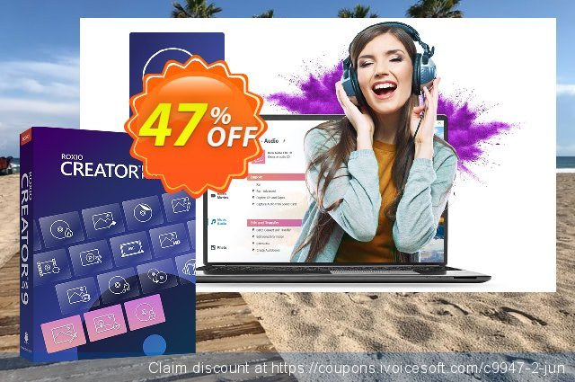 Roxio Creator NXT Pro 8 discount 47% OFF, 2021 Mother Day offering sales. 40% OFF Roxio Creator NXT Pro 7, verified