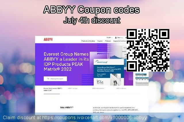 ABBYY Coupon code for 2021 Resurrection Sunday