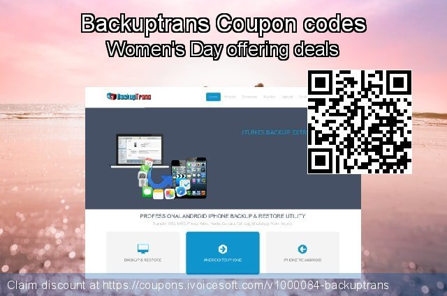 Backuptrans Coupon code for 2020 New Year