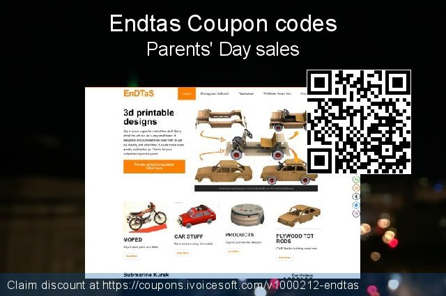 Endtas Coupon code for 2020 Happy New Year