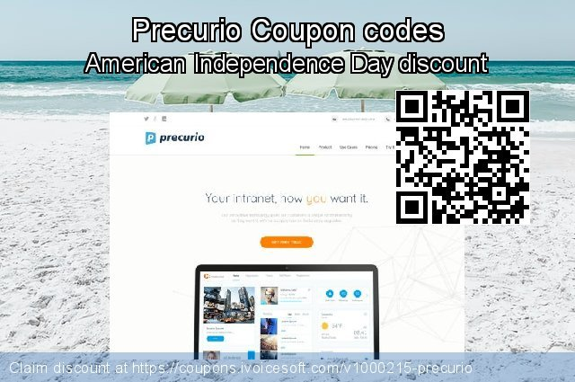 Precurio Coupon code for 2020 American Independence Day