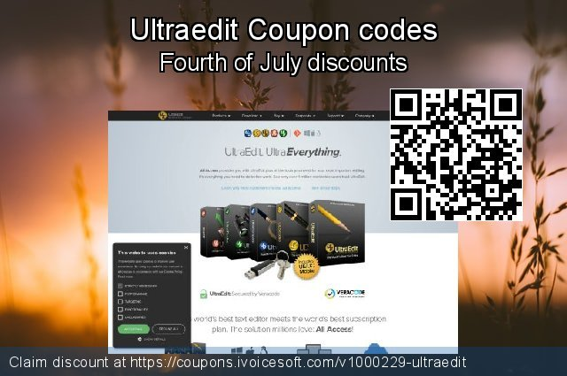 Ultraedit Coupon code for 2021 National Women month