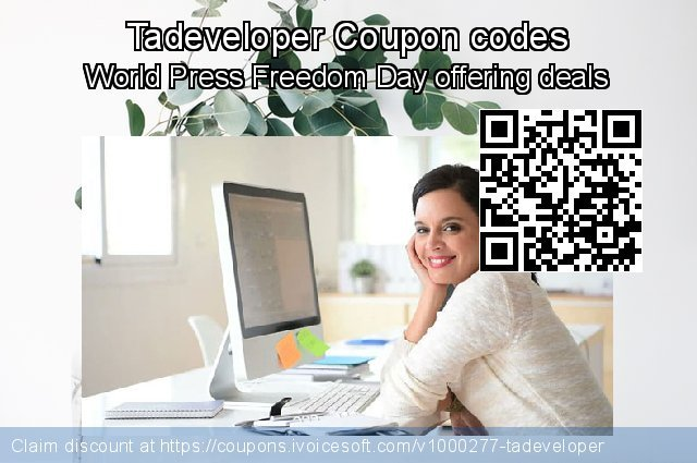 Tadeveloper Coupon code for 2019 Christmas & New Year