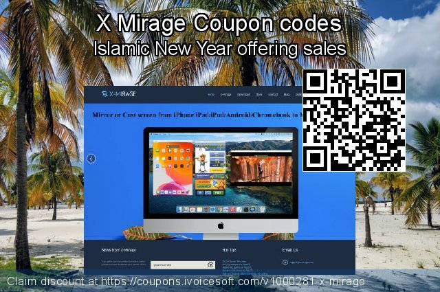 X Mirage Coupon code for 2020 New Year's Day