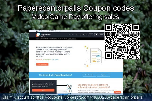 Paperscan.orpalis Coupon code for 2021 Valentine Week