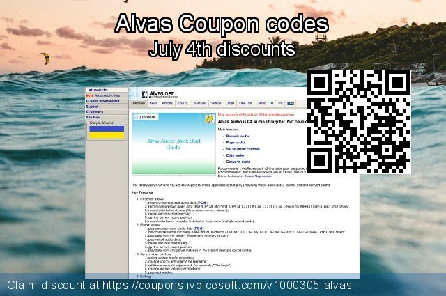Alvas Coupon code for 2020 American Independence Day