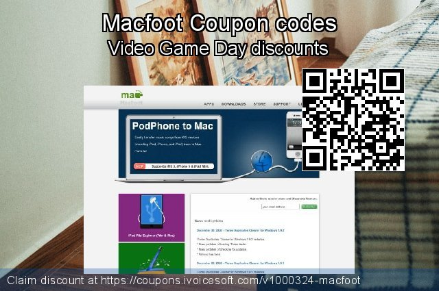 Macfoot Coupon code for 2019 Student deals