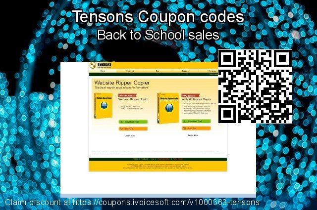 Tensons Coupon code for 2020 Spring