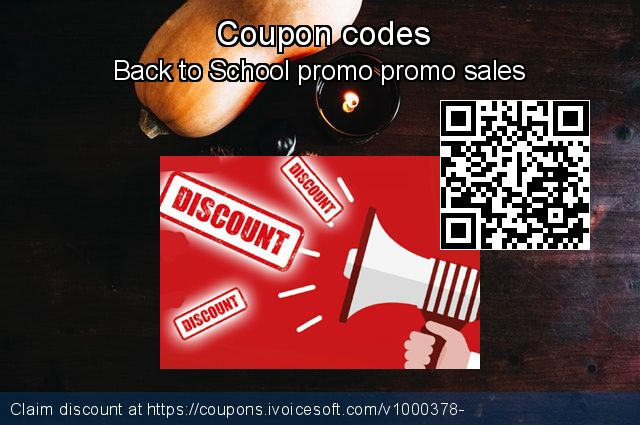 Coupon code for 2019 Back to School promo