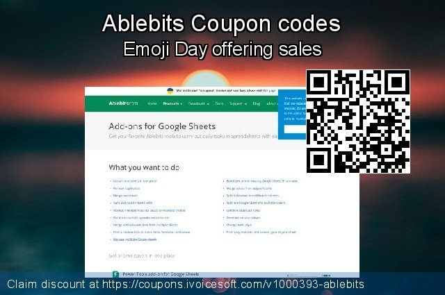 Ablebits Coupon code for 2020 Summer