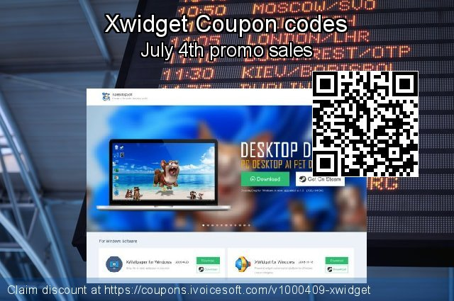 Xwidget Coupon code for 2019 4th of July