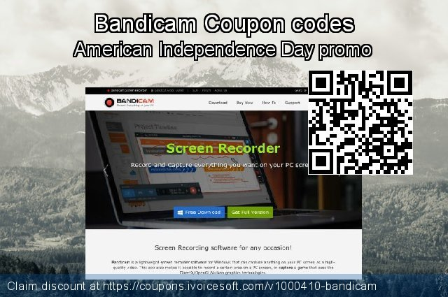 Bandicam Coupon code for 2021 Working Day