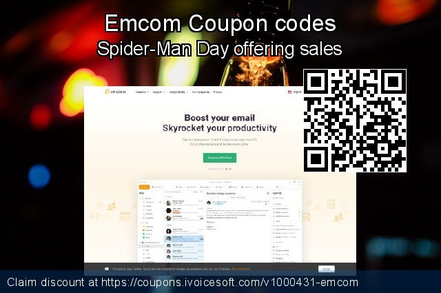 Emcom Coupon code for 2019 New Year's Day