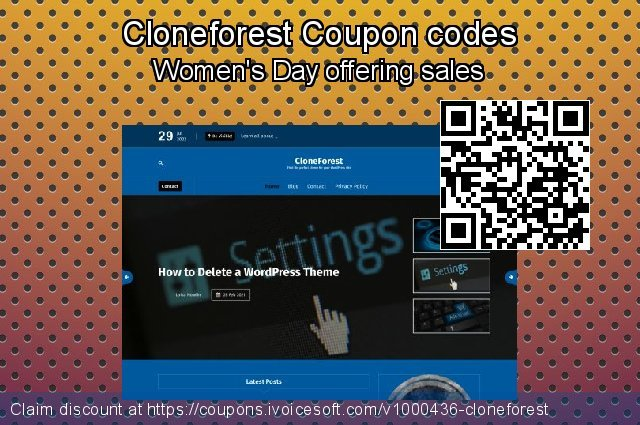 Cloneforest Coupon code for 2021 Women Day