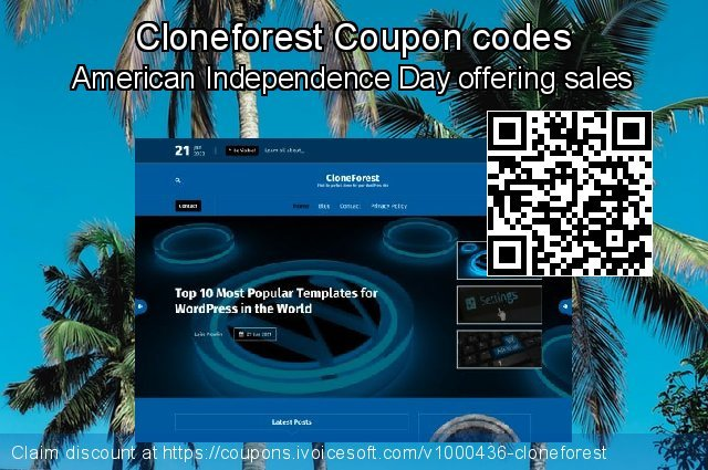 Cloneforest Coupon code for 2019 Thanksgiving