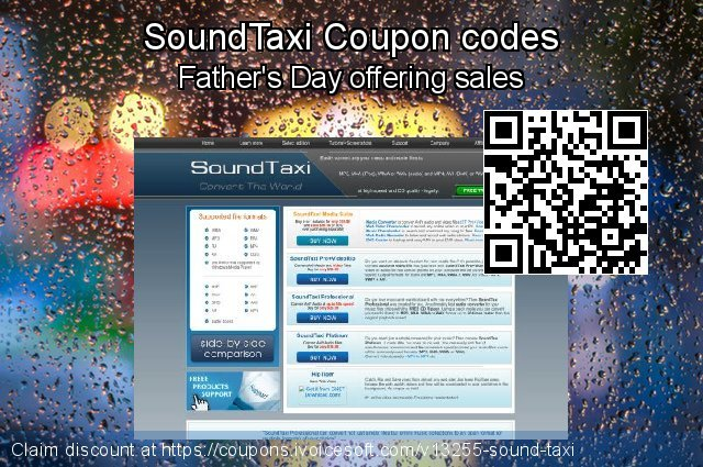 SoundTaxi Coupon code for 2019 Father's Day