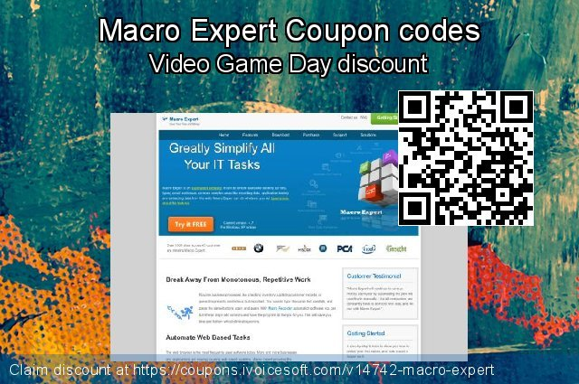 Macro Expert Coupon code for 2020 Spring