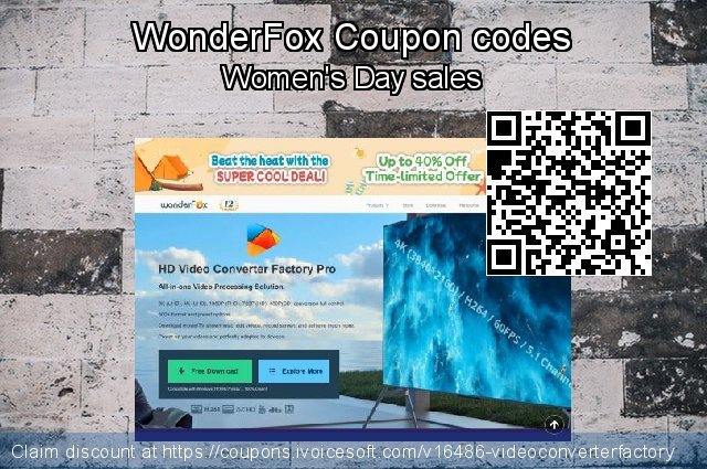 WonderFox Coupon code for 2019 Back to School promo