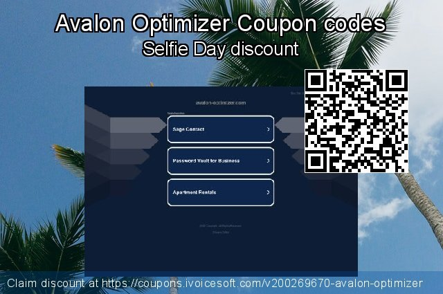 Avalon Optimizer Coupon code for 2020 Back to School coupons