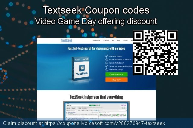 Textseek Coupon code for 2019 Halloween