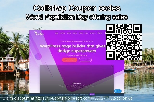 Colibriwp Coupon code for 2021 Working Day