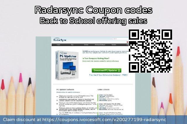 Radarsync Coupon code for 2021 Spring