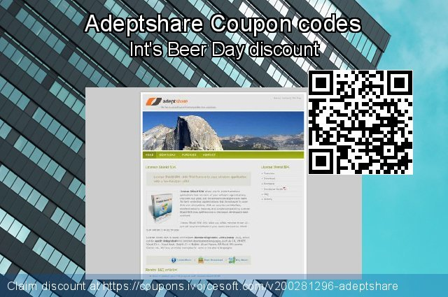 Adeptshare Coupon code for 2021 April Fools' Day