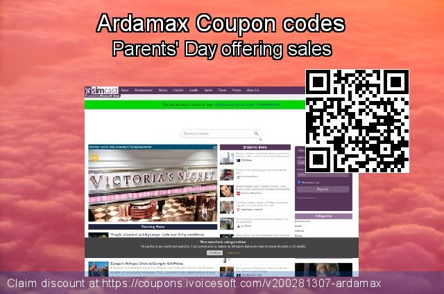 Ardamax Coupon code for 2021 Spring