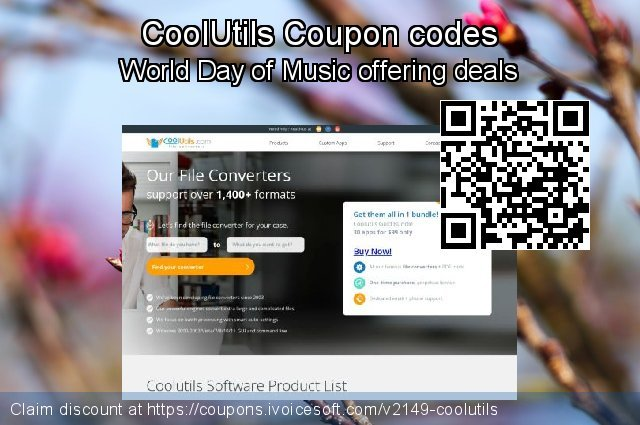 CoolUtils Coupon code for 2020 July 4th