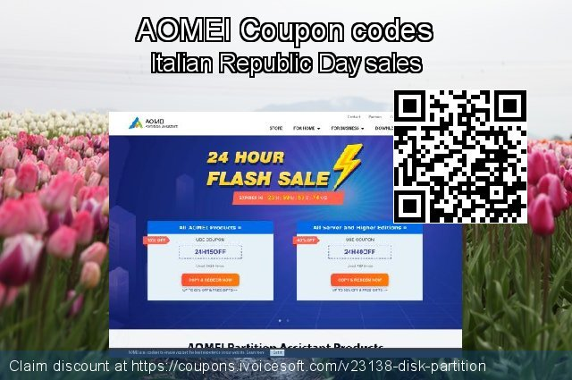 AOMEI Coupon code for 2019 Labour Day