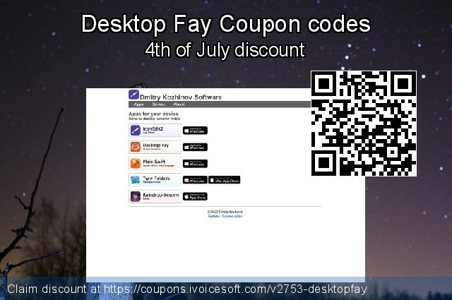 Desktop Fay Coupon code for 2019 New Year