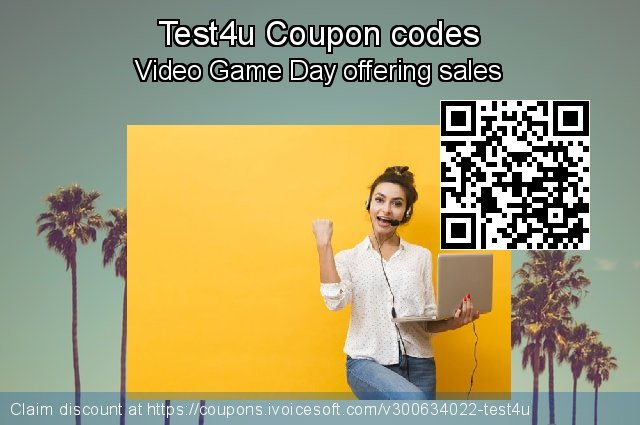 Test4u Coupon code for 2021 Happy New Year