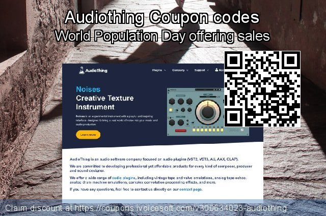 Audiothing Coupon code for 2021 Spring