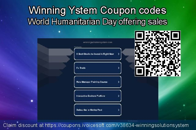 Winning Ystem Coupon code for 2020 Back-to-School promotions