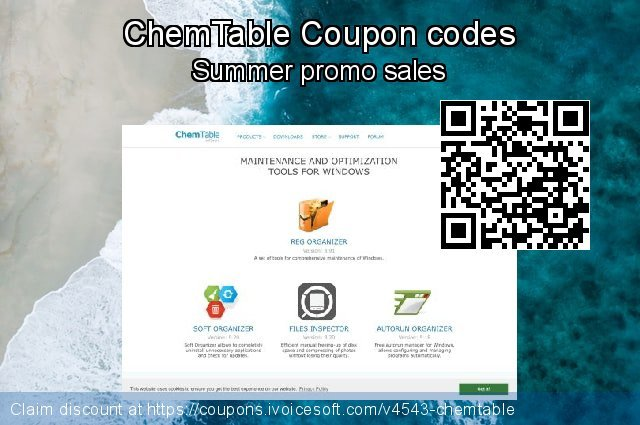 ChemTable Coupon code for 2020 Summer