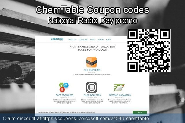 ChemTable Coupon code for 2019 New Year's Weekend