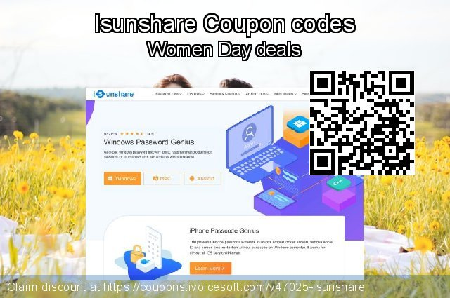 Isunshare Coupon code for 2021 National Women month