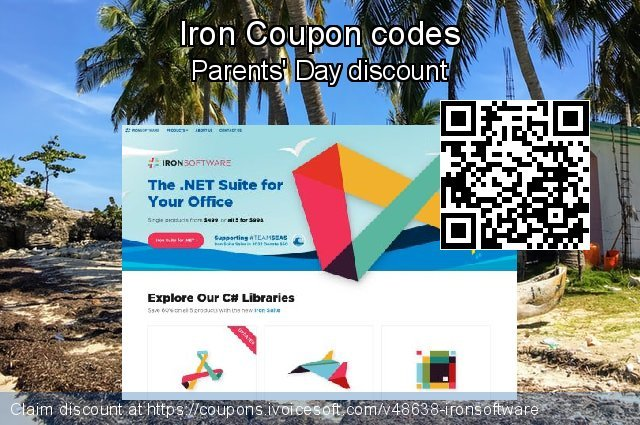 Iron Coupon code for 2020 Summer